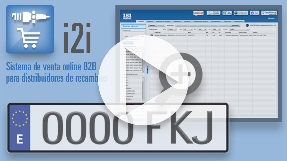 i2i incorpora la búsqueda por matrícula vídeo