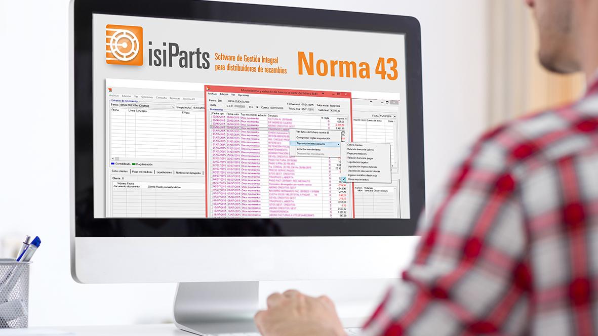 Trabajar con la norma 43 en IsiParts