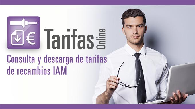 Consulta y descarga de tarifas de recambios IAM
