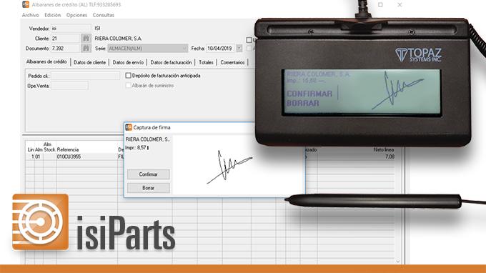 IsiParts incorpora la captura de firma