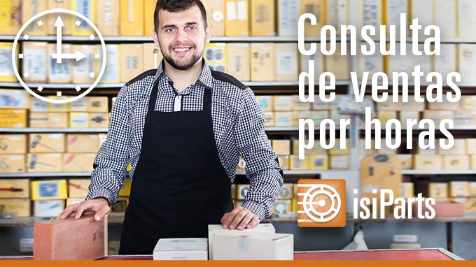 Consulta de ventas por horas en IsiParts