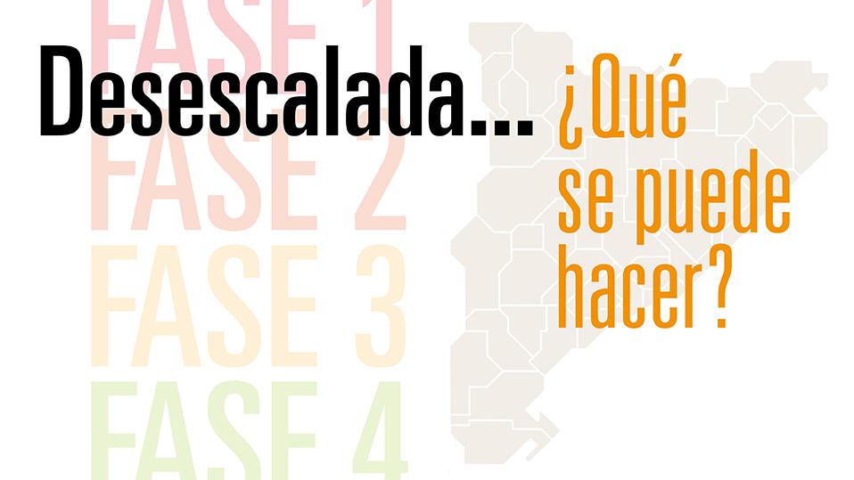 Desescalada en Cataluña: ¿qué se puede hacer?